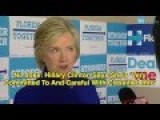 Hillary Clinton Says She's 'Very Committed To And Careful With Classified Info'