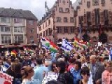 Huge Joint Israeli-German-Kurdish Demonstration In Frankfurt