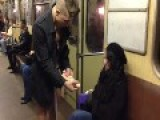 Half Naked Man Selling Dildos In Russian Metro