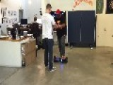 Hesitant Hoverboarder Ends Ride In Fail
