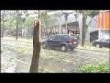 Huge Hailstones Cause Chaos In Brisbane, Australia