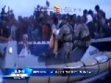 Hundreds Of Migrants Rescued By Italian Navy