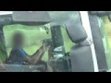 HGV Truck Driver On Two Mobile Phones... Idiot