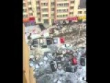 Harbin Hail Storm Swept Away Cars
