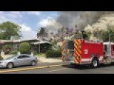 House Explodes - Then Goes Up In Flames Like A Boss!