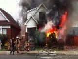 House Fire After Explosion In Hamilton, ON, Canada