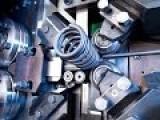 Hypnotic Robotic Spring Making Machines