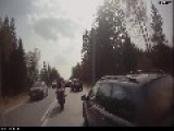 Head On Collision - Motorcycle Helmet Cam