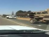Huge Casspir Armoured Convoy