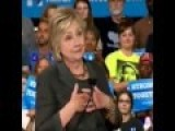 Hillary Reads Sigh Of Teleprompter