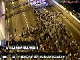 Hong Kong Protest - Aerial View And Close Up
