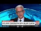 Hillary Panics In Phone Interview With Anderson Cooper On CNN