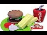 How To Make Hamburger, French Fries, Cola, Ketchup And Mayonnaise With Play-Doh