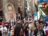 Huge Pro Assad Rally In Australia