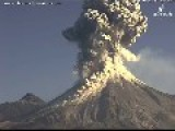 Huge Plumes Of Ash Soar Towards The Skies As Volcano Erupts In Mexico