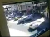 Homs Suicide Car Bomb Caught On CCTV Camera 04 14 201