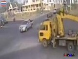 Horrific Truck Run Red Light