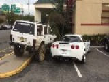 How To Deal With A Double-parked Corvette. Warning: Vertical Video