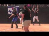 High School Softball Catcher Makes Two Brutally Dirty Plays At Home Plate