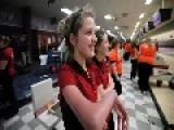 High School Senior Who Cannot Extend Arms Is On Bowling Team