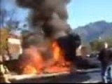 Hell On Wheels Orange County Ca School Bus On Fire With Explosion