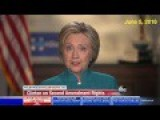 Hillary Clinton: Abortion Is In The Constitution. Right To Bear Arms, Not So Much
