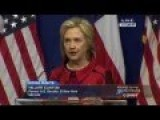 Hillary Tries To Fire Up Blacks With Speech On 'Voter Suppression'