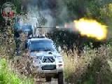 Heavy Gun Machine Firing ASSad's Position In Kafraya
