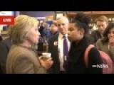 Hillary Confronted About Past Views On Blacks