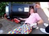 Hapless Golfer Gets His Head Stuck In A Bin In This Hilarious Video