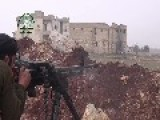 HD -14 YEAR OLD FSA REBEL FIRES DSHK AT CHRISTIAN POSITIONS-