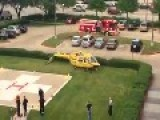 Helicopter Makes Hard Landing At Houston Hospital