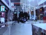 Hit & Run Self Defence At Gold Coast Petrol Station Jan 26th Australia Day 2014