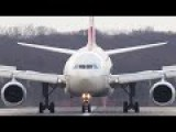 HARD Airbus A330 CROSSWIND Landing With DEFECT Reverser