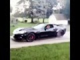 Hot Wife Does Burnout In Husbands Twin Turbo Vette!