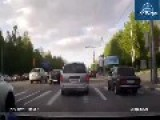 Instant Karma For Idiot Road Rage Driver