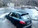 Idiot Try Out A Porsche Cayenne In The River