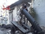Industrious Syrian Sunni Arab Citizen Soldiers Debut Their New Home-made Mega Mortar System: Aleppo City Oct 30th '13