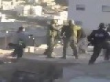 Israeli Soldiers Beating Up An Old Man
