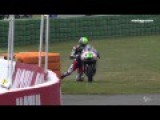Incredible Moment Moto3 Rider Crosses Finish Line On His Knees