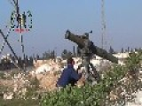 Islamic Group Claim Hit Syrian Army T-55 Tank With TOW Missile