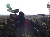 Islamic Militants Using Long-Range Anti-Tank Missile Agains Syrian Army Armored Vehicle