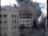 Israeli Air Force Targets Hamas HQ Hidden In Civilian Tower Block - *screaming Snackbar Warning*