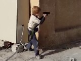 ISIS Child Playing War In The Street Of Raqqa - Syria