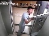 Idiot In A Lift
