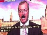 Image Of A New Look The BBC Give Anti-EU Campaining Fraud Nigel Farage, As He Denies Singing Nazi Songs