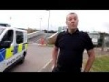 Idiot Messes With British Police With His Young Son Present