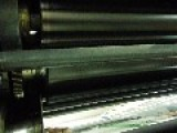Inside At A Printingpress During Work.. RAW Video