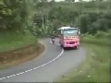 It Was The Pink Buses Fault, I Swear. Motorbike Accident Vid