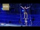 Impossible Challenge: Daredevil Argentine Acrobat Swings Blindfolded